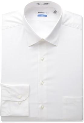 Van Heusen Men's Big-Tall Herringbone Tall Fit Solid Spread Collar Dress Shirt