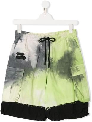 Cinzia Araia Kids TEEN tie-dye print distressed shorts
