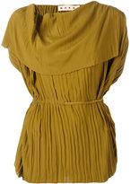 Marni belted drape blouse - women - Silk/Acetate - 42