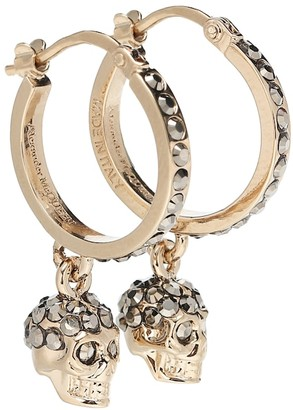Alexander McQueen Skull crystal-embellished earrings