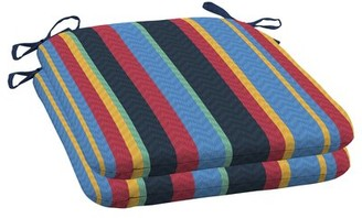 Ebern Designs Stripe Seat Pad Outdoor Dining Chair Cushion