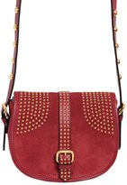 RED Valentino Small Rider Suede Shoulder Bag