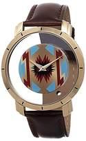 Akribos XXIV Men's AK665XTN Stainless Steel Watch with Brown Band