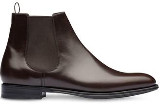 Prada almond toe Chelsea boots