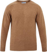 Johnstons of Elgin Crew-Neck Caramel Merino Cashmere Sweater