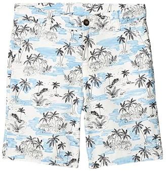 Janie and Jack Palm Print Shorts (Toddler/Little Kids/Big Kids) (Blue) Boy's Shorts