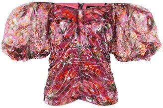 Isabel Marant Orval floral lame top