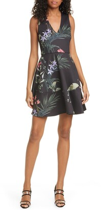 Ted Baker Wrapel Highland Fit & Flare Dress