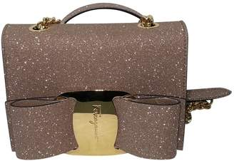 Salvatore Ferragamo Pink Glitter Handbags