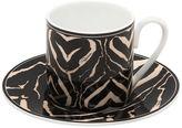 Roberto Cavalli Zebra Set Of 6 Espresso Cup & Saucers