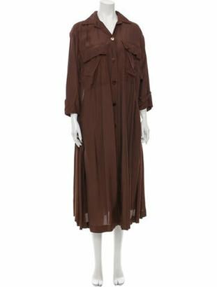 Alaia Midi Length Dress Brown