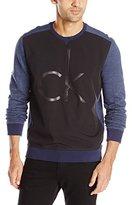 Calvin Klein Jeans Men's Bonded Logo Crewneck Sweatshirt