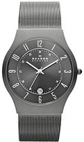 Skagen Watches, Men's Titanium 233XLTTM Grey Mesh Titanium Watch