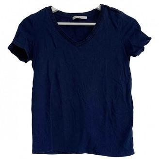 Maje Blue Linen Top for Women