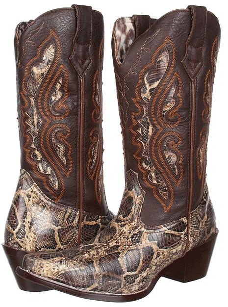 Laredo Andes (Brown/Tan Snake Print) - Footwear