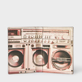 Paul Smith Men's Black Leather 'Boom Box' Interior Credit Card Wallet