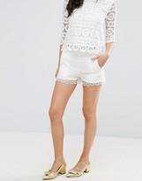 French Connection Castaway Crochet Shorts