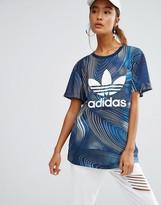 adidas Geology Print Boyfriend Fit T-Shirt