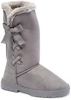 Gray Corset Winter Boot