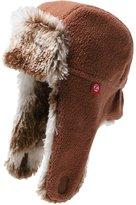 Zutano Cozie Fleece Shaggy Hat - Chocolate- 4T