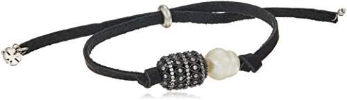 Lucky Brand Pearl And Pave Leather Bracelet
