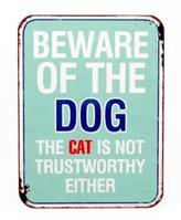 Bohemia Beware Dog Sign