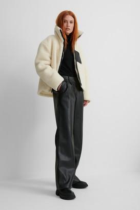 NA-KD Patch Pocket Teddy Short Jacket