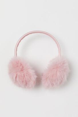 H&M Faux Fur Earmuffs - Pink