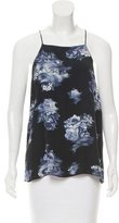 Tibi Floral Sleeveless Top