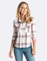 Roxy Womens Plaid Party Shirt