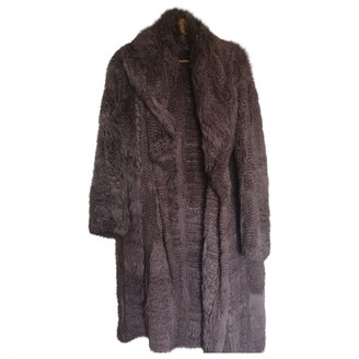Meteo Purple Rabbit Coat for Women