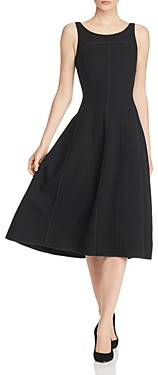 Narciso Rodriguez Piped Wool-Blend Midi Dress