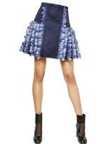 Christopher Kane Feathers & Silk Satin Skirt
