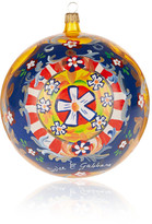 Dolce & Gabbana Painted Glass Bauble - Yellow