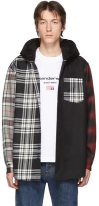 Alexander Wang Black and Red Tartan Shirt Jacket