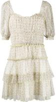 Jonathan Simkhai Tiered Floral Mini Dress