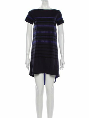 Sacai Luck Striped Mini Dress Blue