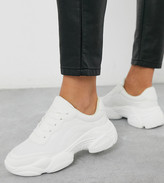 Asos Design DESIGN Wide Fit Destined chunky sneakers in white