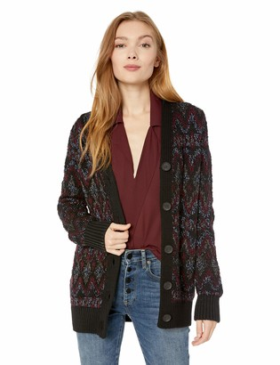 Lucky Brand Women's Shine Fairisle Cardigan Sweater