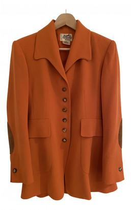 Hermes Orange Wool Jackets