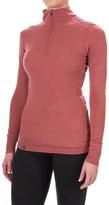 Ibex Woolies 1 Lightweight Striped Base Layer Turtleneck - Merino Wool, Zip Neck, Long Sleeve (For Women)