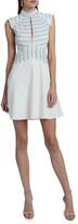 Victoria Victoria Beckham Crinkle Stripe Mini Dress