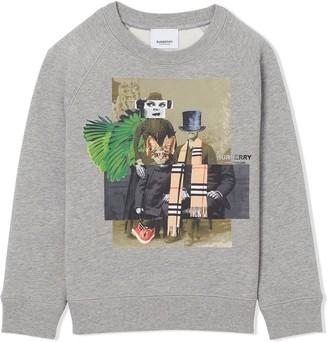 Burberry collage print sweatshirt