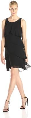 SL Fashions Women's Jewel Strap Multi Tiered Cocktail Dress