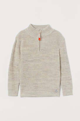 H&M Ribbed Cotton Sweater - Gray