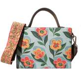 Simitri Blue Rose Briefcase Bag