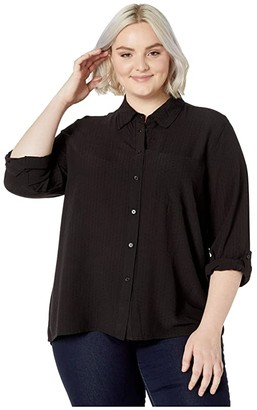 MICHAEL Michael Kors Size Oversized Shirt (Black) Women's Clothing