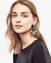 Ann Taylor Floral Hoop Earrings
