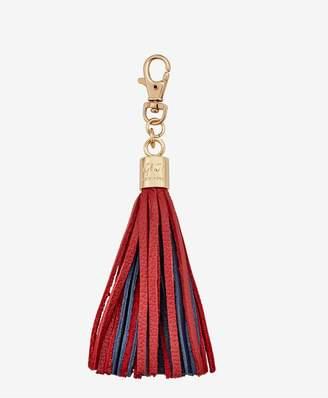 GiGi New York Tassel Bag Charm In Red And Navy