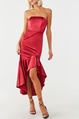 Forever 21 Satin Flounce Gown
